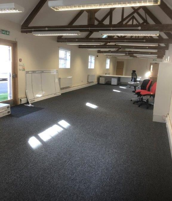 100% Nylon Carpet tiles fitted to offices on North Frith Business Centre