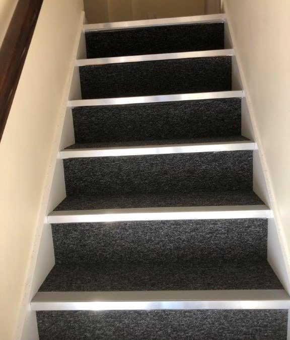 Commercial carpet tiles to offices and stairs
