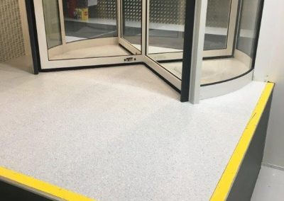 Commercial vinyl non conductive flooring to a clean data area